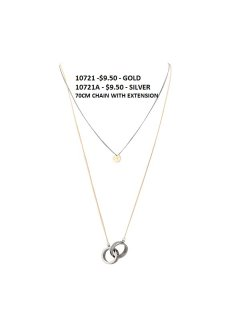 10724 GUCCI DOUBLE CIRCLE ON GOLD CHAIN WITH SILVER INNER CHAIN Please Click the image for more information.