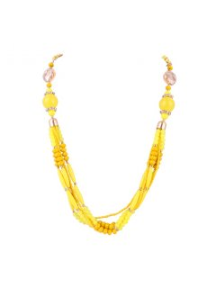10772B YELLOW BEADED NEKLACE Please Click the image for more information.