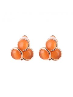 E0640C ORANGE CLIP ON EARRINGS Please Click the image for more information.