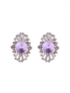 E0641C MAUVE FILIGREE CLIP ON EARRINGS Please Click the image for more information.