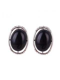E0642S BLACK CLIP ON EARRINGS Please Click the image for more information.