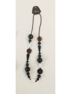 10789C BLACK BEADED NECKLACE Please Click the image for more information.