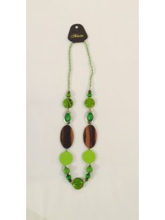 10790C GREEN BEADED NECKLACE Please Click the image for more information.