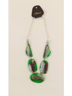 10791C GREEN WOODEN NECKLACE Please Click the image for more information.