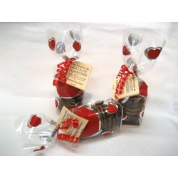 Dark Chocolate Florentines - Red Heart Pack $11.00 Australian almond and pistachio nuts with fresh cream a hint of citrus on a layer of smooth dark chocolate . Please Click the image for more information.