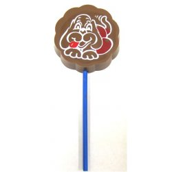 Lollipop milk chocolate - Doggy $4.00 Solid milk chocolate with edible colour print Please Click the image for more information.