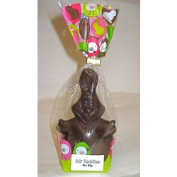 """Mr. Cuddles"" Easter egg rabbit - Plain Dark Chocolate 120mm $9.90 Hollow plain dark chocolate bunny Dairy free Please Click the image for more information."