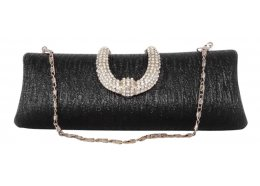 Evening Bag Hard case with silver chain  diamante clip Please Click the image for more information.