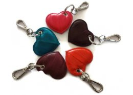 Eel Skin Heart Key Ring Eel skin heart key ring with silver key chain for your keys Please Click the image for more information.