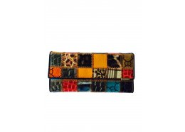 Patchwork Squares Leather Wallet Patchwork Squares Flap leather wallet which folds open Great design and colourful Inside two windows and 14 card holders I. Please Click the image for more information.