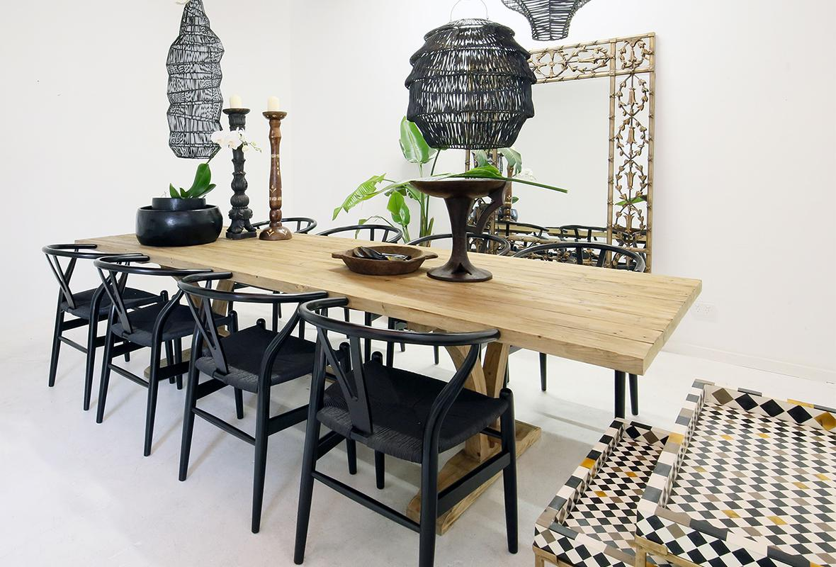 DARK MODERN ETHNIC DINING ROOM
