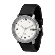 Denmark Dress Watch Sleek modern solid stainless steel case in natural or black plated finish 5 ATM 50 meter water resistant case La. Please Click the image for more information.