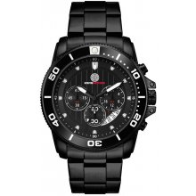 Andretti Sports Chronograph Black Bracelet Beautifully crafted three eye Chronograph with single date in a black plated solid stainless steel 10 ATM 100 meter water resistant 42mm case with rotating stainless steel bezel with aluminium colours plate M. Please Click the image for more information.