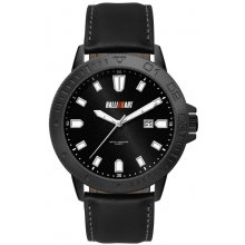 Turin Black Solid stainless steel case in black plated brush finish stainless steel 5 ATM 50 meter water resistant 44mm case Ma. Please Click the image for more information.