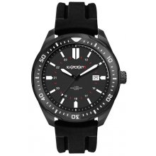 Sorento Black Beautifully crafted black plated solid stainless steel 10 ATM 100 meter water resistant 45mm case with mono rotating bezel S. Please Click the image for more information.