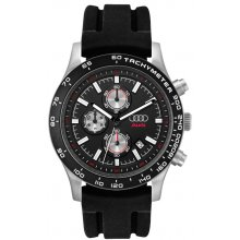 Laramie Sports Chronograph Beautifully crafted three eye Chronograph with single date in a natural or black plated solid stainless steel 10 ATM 100 meter water resistant 43mm case M. Please Click the image for more information.