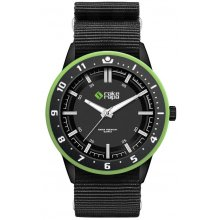 Banff Black Matt black platted 3 ATM 30 meter water resistan alloy case with contrasting bezel Adult Unisex sized 435mm . Please Click the image for more information.