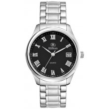 Berkley Silver Bracelet Polished silver plated alloy dress watchh Male 36mm and female 28mm cases 3 hand Seiko quartz movement with single date D. Please Click the image for more information.
