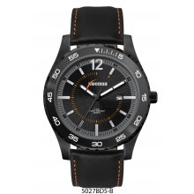 Forrest Black Black plated sports watch with embossed fixed bezel 3 ATM 30 meter water resistant alloy 44mm case 3 . Please Click the image for more information.
