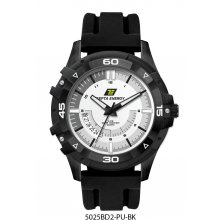 Solice Black Black platted alloy case with bezel 3 hand date movement Bands are in silicon rubber or natural leather  . Please Click the image for more information.