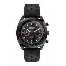 Mansell Black Three eye OS20 Citizen Chronograph movement with single date Beautifully crafted black plated solid stainless steel 10 ATM 100 meter water resistant 42mm case M. Please Click the image for more information.