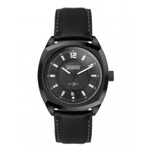 Tenerife Black Beautifully crafted black plated solid stainless steel 10 ATM 100 meter water resistant 42mm case Matt black sunray blue or silver index dials with a unique sports look and feel Fi. Please Click the image for more information.