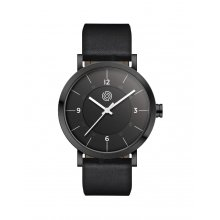 Barton Black Citizen 2035 3 hand or 1S13 Citizen 3 hand  movement with date Beautifully crafted black plated solid stainless steel 5 ATM 50 meter water resistant 40mm case M. Please Click the image for more information.