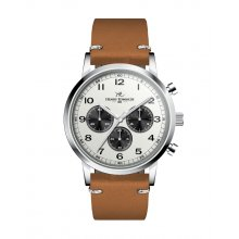 Gardener Silver plated alloy three eye Chronograph sports watch Seiko VD54 Chronograph movement Alloy 3 ATM 30 meter water resistant 42mm case Mat. Please Click the image for more information.