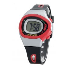 Scooter Kids/Female Kids Size Five function LCD SportsDay Date Hour Minute  Second functionsPlastic case and bands with contrasting trimWide range. Please Click the image for more information.