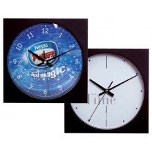 "Wall Clock 10""/250mm Sq 3 hand 255mm10 square wall clock with 3 hand movement Case in black or silver but other colours available Lo. Please Click the image for more information."