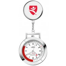 Nightingale Nurses Watch New Nightingale nurses watch in polished siver plated alloy case with broach pin fitting and chain link Polished silver plated 33mm case white printed dial with heart rate calculator markers S. Please Click the image for more information.