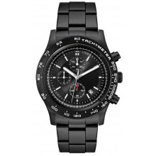 Laramie Sports Chronograph Black Bracelet Beautifully crafted three eye Chronograph with single date in a black plated solid stainless steel 10 ATM 100 meter water resistant 43mm case M. Please Click the image for more information.