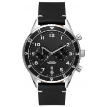 Alonso   Beautifully crafted three or two eye OS21OS20 Citizen Chronograph movement with single date in a black plated solid stainless steel 10 ATM 100 meter water resistant 42mm case M. Please Click the image for more information.
