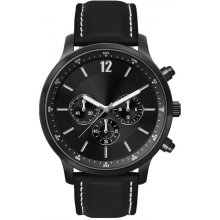 Wakefield Black Black plated alloy three eye Chronograph sports watch Seiko VD54 Chronograph movement Alloy 3 ATM 30 meter water resistant 45mm case Mat. Please Click the image for more information.