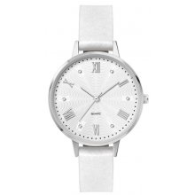 London Female size silver plated alloy watch with 3 hand Citizen 2035 movement Alloy 3 ATM 30 meter water resistant 34mm case Ma. Please Click the image for more information.