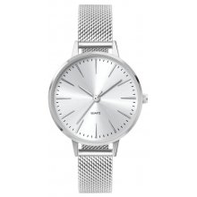 London Mesh Female size silver plated alloy watch with 3 hand Citizen 2035 movement Alloy 3 ATM 30 meter water resistant 34mm case Ma. Please Click the image for more information.