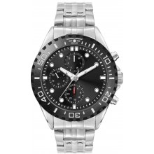 Stirling Multi Function Silver plated alloy two or three eye multi function day and date sports watch with contrasting bezel. Please Click the image for more information.