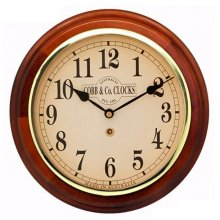 12'/300mm Wood Cased Wall Clock #04LR 300mm12 round wooden cased wall clock with 3 hand movement Logo printed in 4 spot colours onto any colour dial with markings to your choice Ha. Please Click the image for more information.