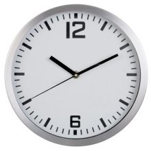 Wall Clock Aluminium Round 254mm 254mm10 round Brushed Aluminium cased wall clock with 3 hand movement Case in brushed aluminium Logo printed in 4 spot colours onto any colour dial with markings to your choice Han. Please Click the image for more information.