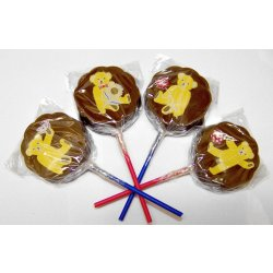 Lollipop milk chocolate - Teddy Bears(4 assorted designs) 30g $4.00ea Solid milk chocolate lollipop with edible colour print  Please Click the image for more information.