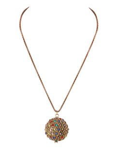 10530 GOLD OR SILVER NECKLACE WITH MULTI COLOURED CRYSTALS IN FAUX LOCKET Please Click the image for more information.