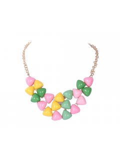 10621 SUMMER LOLLIE TONE CHOKERAVAILABLE IN PINKYELLOWGREEN OR PINKWHITBLUE OR GREENBLUE OR BLACK  WHITE Please Click the image for more information.