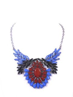 10664A AZTEC NECKLACE AVAILABLE IN BLUERED BLACKGREY OR BLUECREAM TONES Please Click the image for more information.