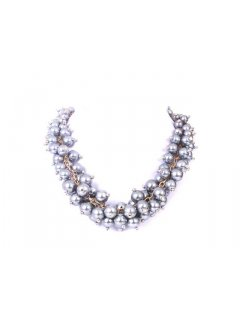 10669C MULTI PEARL CHOKER  AVAILABLE IN GREY CHAMPAGNE BLACK CREAM OR RED Please Click the image for more information.