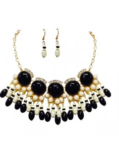 10700 AZTEC NECKLACE  EARRING SETS  AVAILABLE IN BLACKCREAMREDBLACKAQUAGREEN Please Click the image for more information.