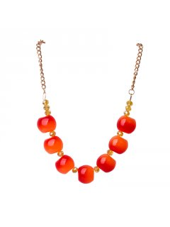 10679C NECKLACE  EARRING SETAVAILABLE IN ORANGE BLUE RED OR BLUE Please Click the image for more information.