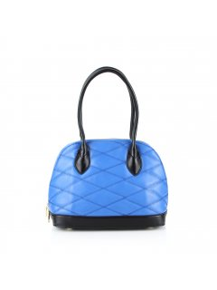 H0629A BLUE QUILTED LEATHER HANDBAG Please Click the image for more information.