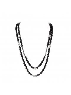 10719A DOUBLE STRAND PEARL  BEAD NECKLACETHIS NECKLACE CAN BE SEPERATED INTO A SINGLE STRAND NECKLACE ORSWING IT AROUND AND USE THE DIAMONTE CLASP AS THE FEATURE IT IS A GREAT NECKLACE TO ADD TO YOUR COLLECTION Please Click the image for more information.