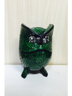 GW062D GREEN MOSAIC OWL  20CM Please Click the image for more information.