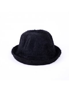 HA0218 BLACK ANGORA HAT Please Click the image for more information.